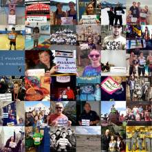 Awesome collage of people showing where they kick ASPS!